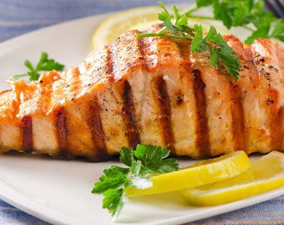 salmón a la plancha