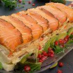 pastel de salmón fresco